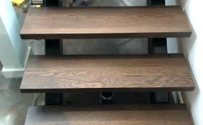 Sand and Refinish of Oak Stair Treads