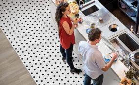 Soho White with Black Matte Hexagons