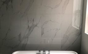 Large Format Bathroom Tile Wall