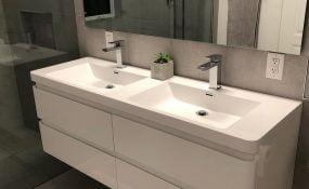 Modern Bathroom Reno with Floating Vanity