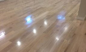 Sand and Refinish of Water Damaged Flooring
